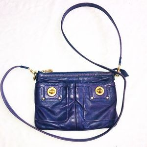 Marc Jacobs purple and gold crossbody